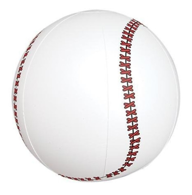 16 Inch Inflatable Baseball Beach Ball - Sports Blow Up Kids Novelty Promo Toy