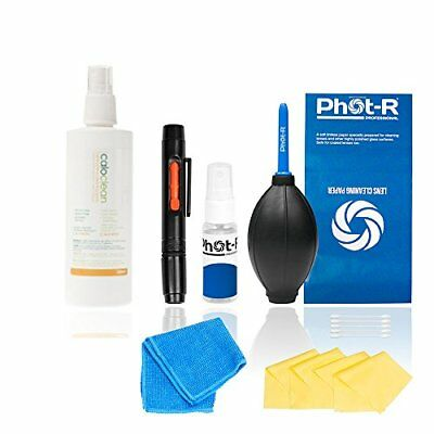 PhotR Professional 10in1 Camera Lens Cleaning Kit 220ml Calotherm Cleaning Fluid