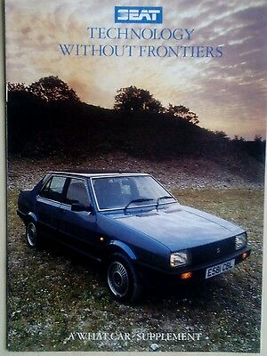 """Seat Cars, Special """"what Car"""" Supplement, 16 Pages, 1987,motoring Ephemera"""