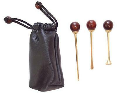 Tobacco Pipe Cleaning KIT Tamper Reamer Pokers tool Leatherette pouch Brass