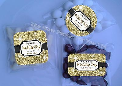 Personalised Wedding Party Favour Sticker Label Diy Favour Kit Sweet Bag Filler