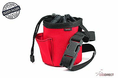 """Bag for dogs treats snacks ORIGINAL HAND-MADE """"RED"""" dog training walking puppy"""