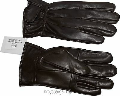 New Men's leather gloves, Brown Unbranded winter gloves lined warm gloves BNWT+*