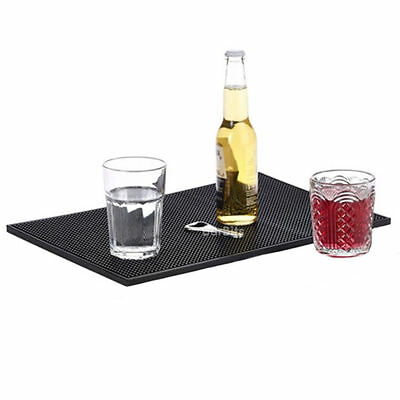 "Service Bar Mat Rubber 12 x 18"" - Black Glass Drip Trays Pub Beer Drink Plastic"