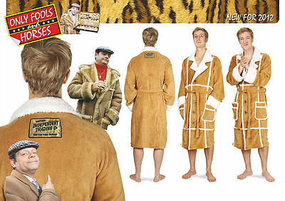 Only Fools and Horses Del Boy Dressing Gown Bathrobe OFFICIAL