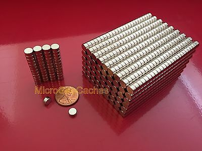 """100 - 1/4 x 1/8"""" Strong Rare Earth Neodymium Disc Magnets 6 x 3mm Magnet"""