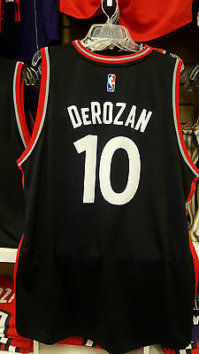 2015-16 Demar Derozan Toronto Raptors Alternate Black and Red Medium Jersey