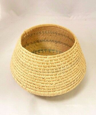 "Native American Weave Small Basket Bowl. Nice Design.  Approx. 4.5"" T x 6.25"" D"