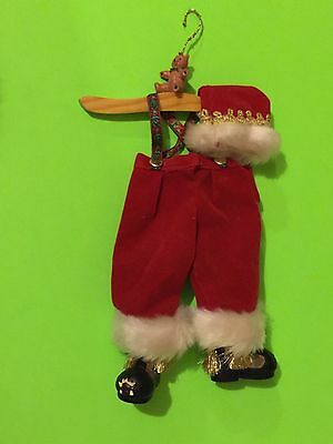 Silvestri HandCrafted Santa Claus Outfit Christmas Collectible Ornament