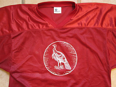 RaRe Wild Turkey Bourbon 101 Football Party Jersey ~size L Frat Tailgating Red