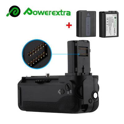 VG-C1EM Battery Grip + 2Pack NP-FW50 Battery for Sony Alpha A7 A7S A7R Camera