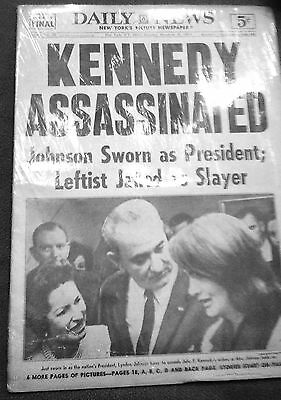 Rare Vintage Newspaper - Kennedy Assassinated