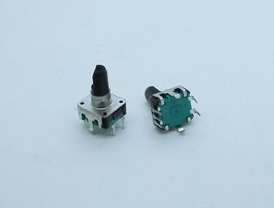 2 x ALPS EC12 Encoder 24 Pulse 15mm D Shaft withl Push on Switch