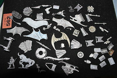 Mixed Manufactures Job Lot Metal Figures Grenadier Warhammer Army Loads Wings A4