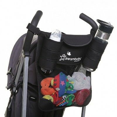 New Dreambaby Stroller Pram Organiser with Cup Holders Dream Baby Strollerbuddy