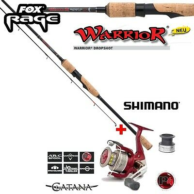 Fox Rage Warrior Drop Shot NRD188 2,50m + Shimano CATANA  FD 2500