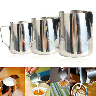 350/600/1000mL Stainless Steel Kitchen Home Handle Coffee Garland Cup Jug