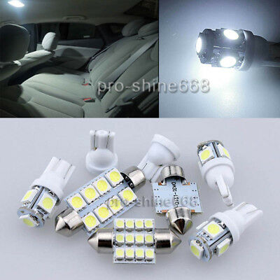 Interior Car Led Light Smd Package Bulbs Kit - Xenon White Fit Vauxhall Zafira B