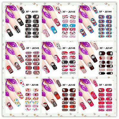 Decoration Decals Nail Art Sticker Twinkle Cover Tips Kitty Cat Style