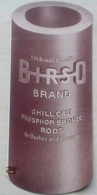 Vintage Brochure For Birso Brand Phosphor Bronze Rods, Birkett, Hanley, Staffs