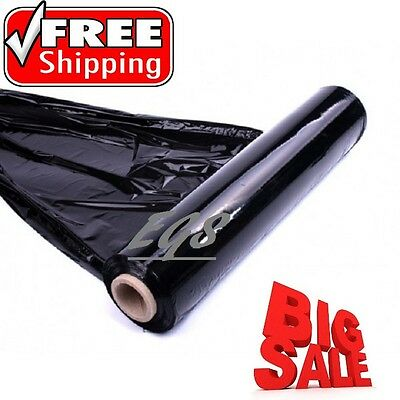 1 X Strong Black Pallet Parcel Packing Cling Film Stretch Shrink Wrap Cast Cheap