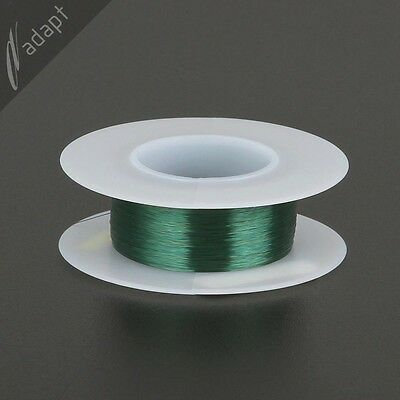 Magnet Wire, Enameled Copper, Green, 38 AWG (gauge), 155C, ~1/16 lb, 1206' SPN