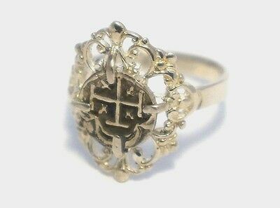 Atocha Ring Women 925 Sterling Silver Sunken Treasure Shipwreck Coin Jewelry