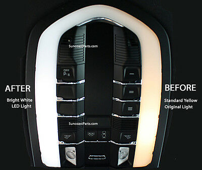 Porsche Panamera Xenon White LED Interior Lights Bulbs Kit