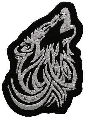 Wolf Howling Tribal Embroidered Patch