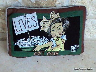 Mary Engelbreit LIVES GET ONE Tapestry Pillow