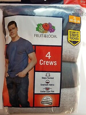 Fruit of the Loom Men's 4pk T-shirt Sizes S-3XL (Colored Crew Neck)