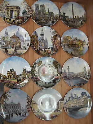 Lot of 12 Limited Edition Limoges France Louis Dali Collector Plates