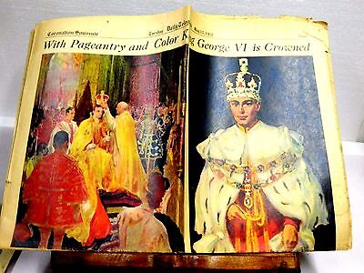 1937 Daily Telegraph Coronation King George Vi In Color Complete