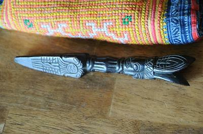 Old Tibetan Carved Wooden Marker / Stake…  interesting collector's item...