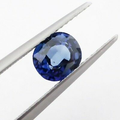Loose Oval Faceted Natural SAPPHIRE 1.35 carat Gemstone, Mid-Deep Blue Colour
