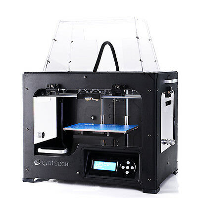 2017 Newest Upgraded ! QIDI TECH 3D Printer - 2 Extruder + 2 KG Free ABS/PLA