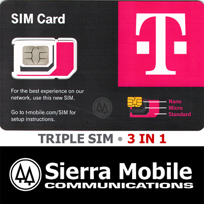 T-MOBILE Triple SIM MINI + MICRO + NANO • GSM 4GLTE • Prepaid or Postpaid • NEW