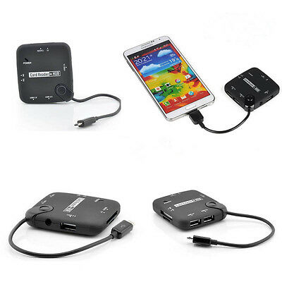 Micro USB 3.0 OTG Connection Kit Card Reader SD TF For Samsung Galaxy Note3 S5 t