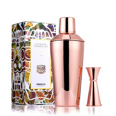 Rose/Gold Martini Mixer Cocktail Shaker 750ml Bar Mixing Tools Stainless Steel