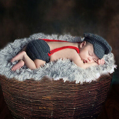 New Newborn Baby Girls Boys Crochet Knit Costume Photo Photography Prop Outfits