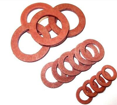 Red fibre washers. Metric. Sealing. *Top quality! 5mm - 20mm Various quantity.