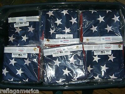 ONE Valley Forge US American Flag 3'x5' Poly/Cotton 100% USA Made -IMPERFECT