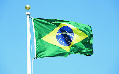Country Flag of Brazil 3 x 5ft Banner The Auriverde ORDEM E PROGRESSO