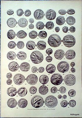 1890 Examples Of Remarkable Ancient Coins Babylonic Stater Lepton Macedonian ad