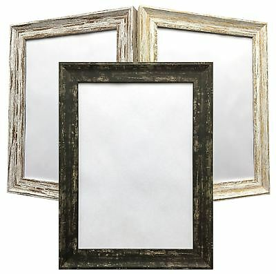Poster Frame Distressed Wood Effect Shabby Chic Vintage Style Picture Frames New