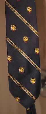 """MASSANUTTEN United States Military Academy Neck Tie 57.5"""" Navy With Gold Color"""