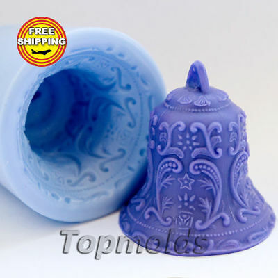 Bell soap mold Food-grade silicone christmas mold angel mold Free shipping