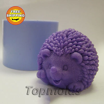 Hedgehog 3d Food-grade silicone soap Mold Silicone Molds Animals Free Shipping