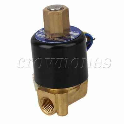 """2 Way NBR Electric Solenoid Valve Water Air N/O 12V DC 1/4"""" Normally Open Type"""