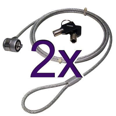 [2 pack] Laptop Security Cable with Barrel Lock & Key for Kensington Slot OE